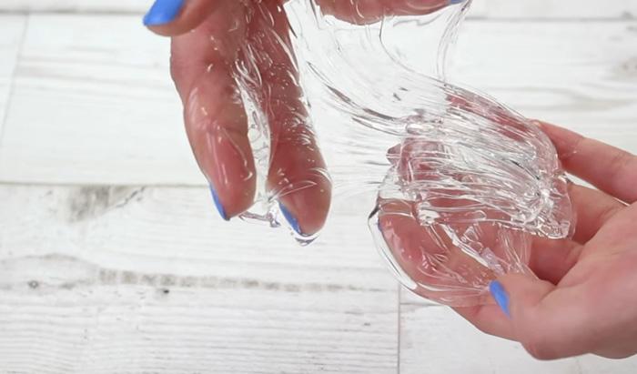 как сделать прозрачный слайм