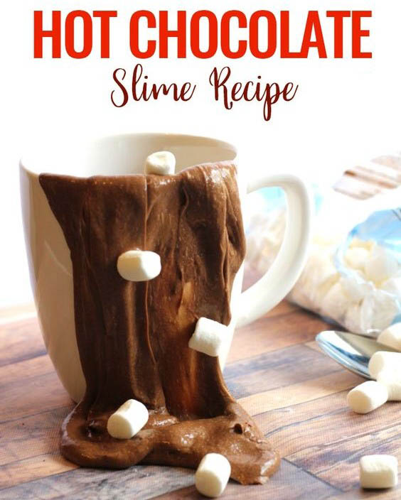 шоколадный слайм